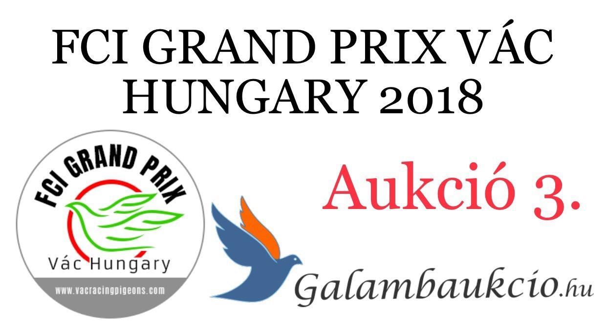 FCI Grand Prix Vác Hungary 3. aukció