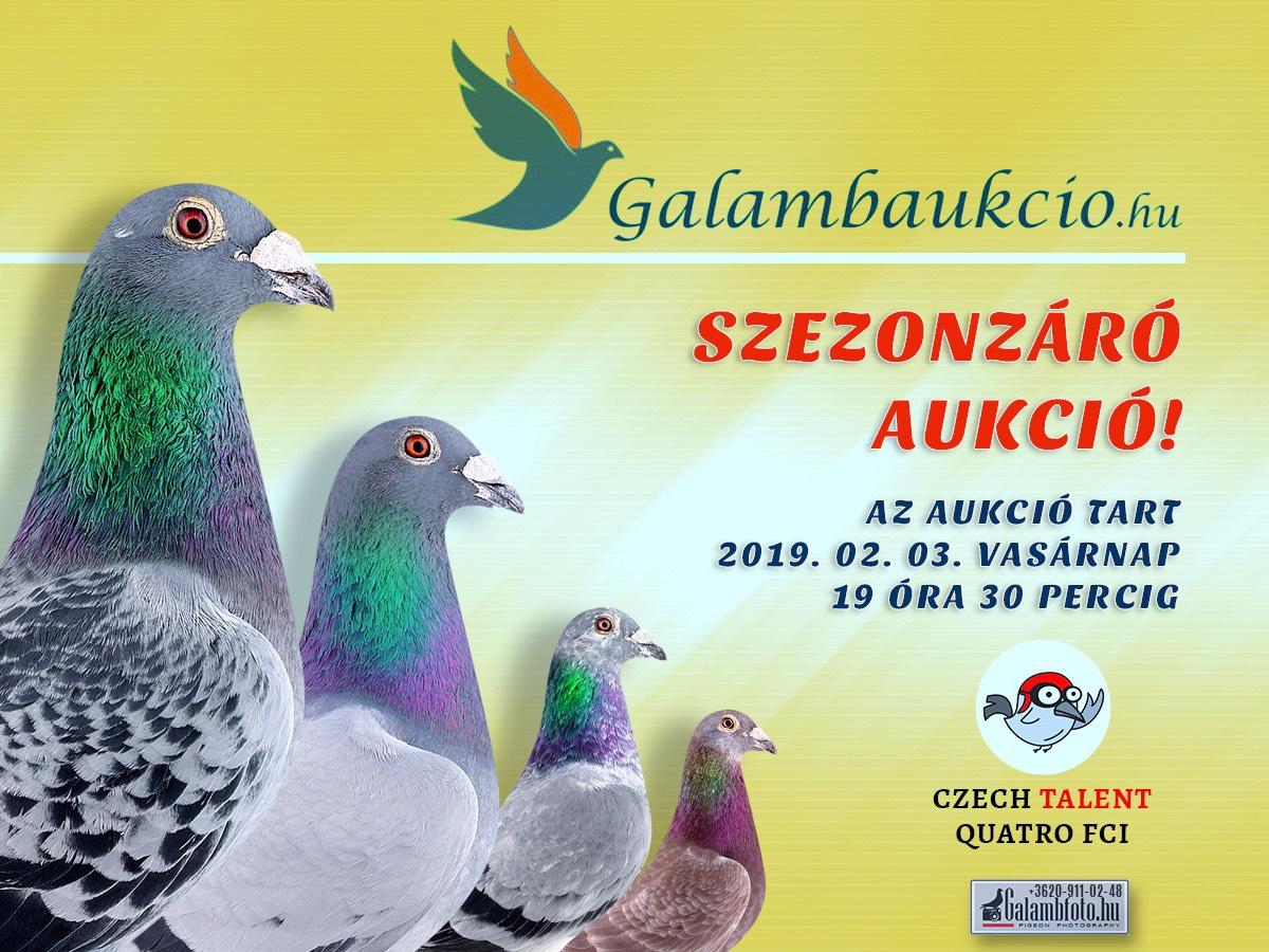 Szezonzáró aukció