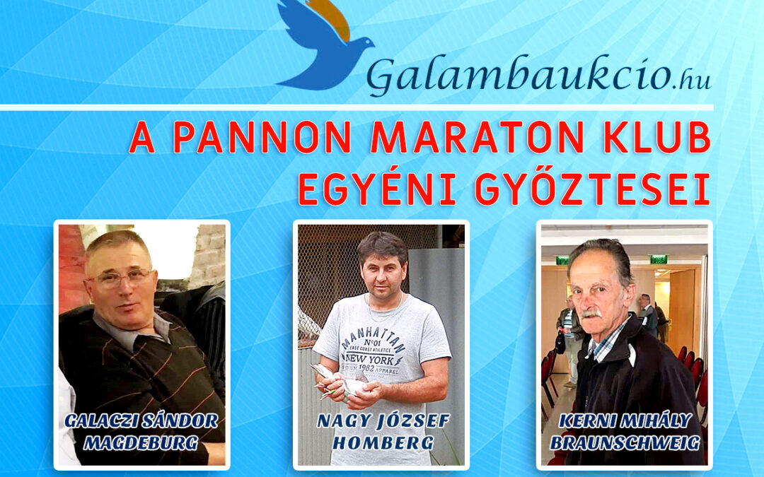 A Pannon Maraton Klub egyéni győztesei