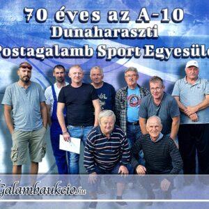 70 éves az A-10 Dunaharaszti Postagalamb SE